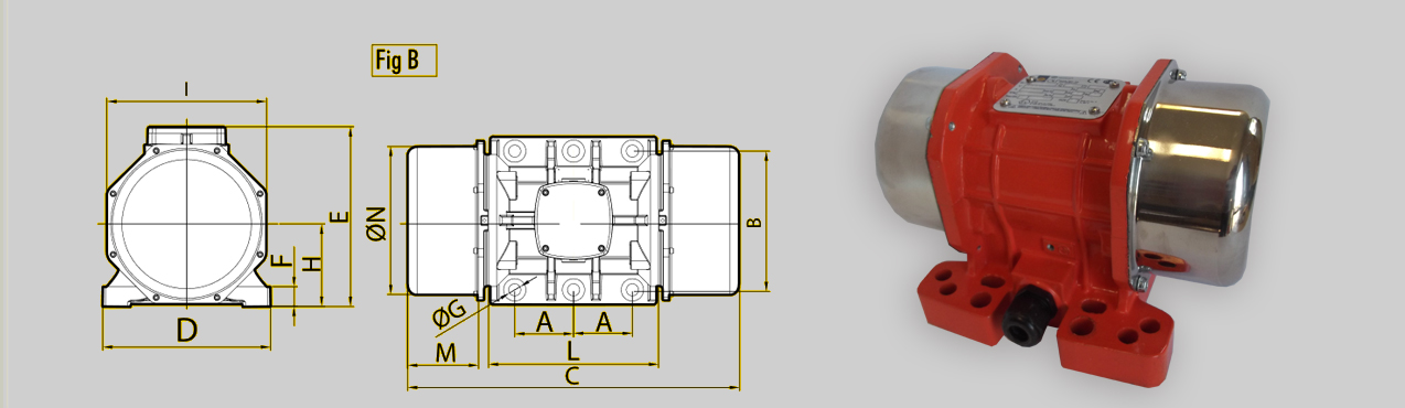 Elektrowibratory OLI-WAM mve-d 4 polowe
